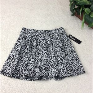 Joe Benbasset Animal Print Mini Skirt Size Large